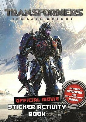 Transformers The Last Knight Movie Sticker Activ by Hasbro UK Paperback Book New