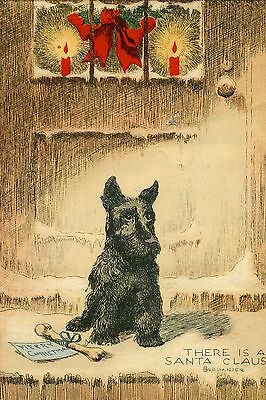 Scottish Terrier Dog by Berdenier New LARGE Blank Christmas Note Cards