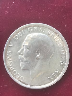 1915 George V Half Crown Coin