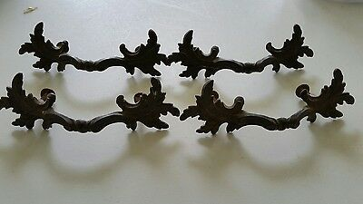 4 Matching ,vintage 2 1/2 Inch Center To Center Drawer Pull Handle (914)