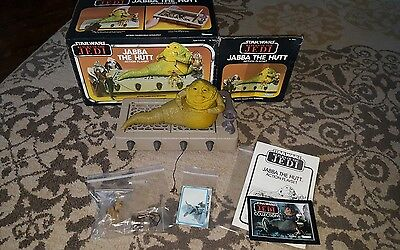 Vintage star wars jabba the hutt MINT complete with box