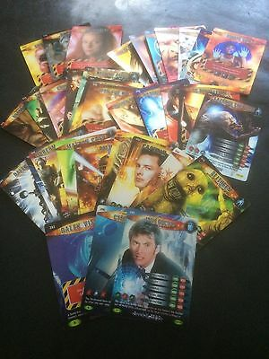 Doctor Who Battles In Time Trading Cards Bundle x 35 Rare Super & Ultra Rare VGC