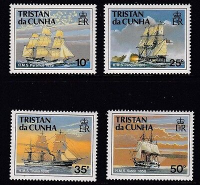 Tristan 1990 Ships of the Royal Navy Series l MNH (4)