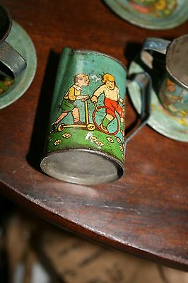 Victorian Child's Tin Plate Decorated Coffee Set
