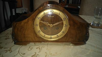 A Fine Vintage Westminster Mantel Clock By Hermle