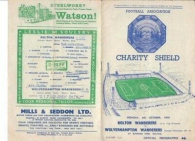 Bolton Wanderers v Wolverhampton Wanderers (Charity Shield) - 06/10/1958