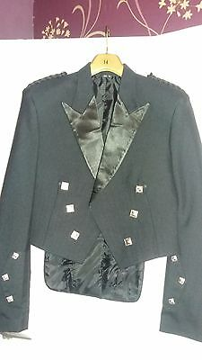 Brand new without tags mens kilt jacket prince charlie size 40L