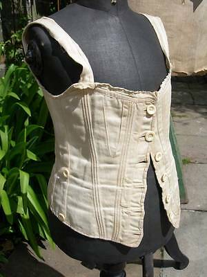 Adorable child's antique French corset 1890s