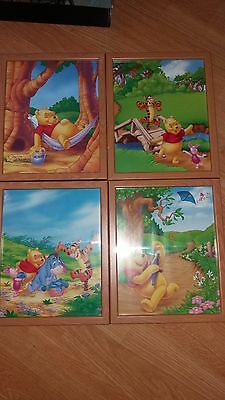 4x winnie the pooh picture frames.all in excellent condition