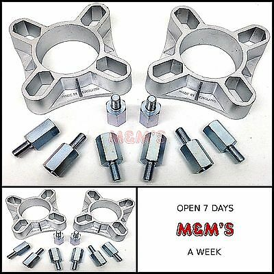 CLASSIC MINI / UNIVERSAL 32mm 4 STUD ALLOY SPACERS - MIDGET-TRIUMPH SPITFIRE.