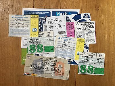 Collection of 8 Scotland Rugby Union TICKETS v Australia, France, Wales