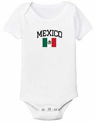 7a199de4222 Mexico Bodysuit Soccer Baby Outfit Mameluco Infant Girls Boys T-shirt Kids