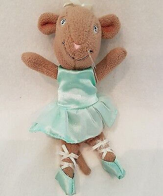 Angelina Ballerina~ brown alice mouse~NEW  soft toy plush Alice mouse plush