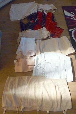 Vintage + Modern Corset Lot 10 Items Firm Corsets Semi Firm + Body Shapers S/m/l
