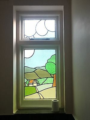 stained glass lead light window