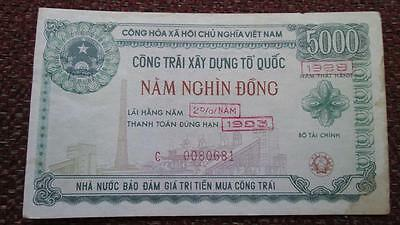 Vietnam Reconstruction Bond 5000 Dong 1988-93