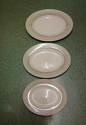 John Maddock 'Royal Ivory' - Three Oval Serving Plates
