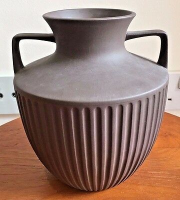 Unusual 1970s Hornsea Lancaster Vitramic Urn Shaped Vase Brown Matt Finish
