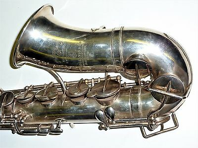 Rare Couesnon silver plated French Alto saxophone