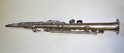 1930'S CONN SILVER PLATED SOPRANO SAXOPHONE *fully overhauled