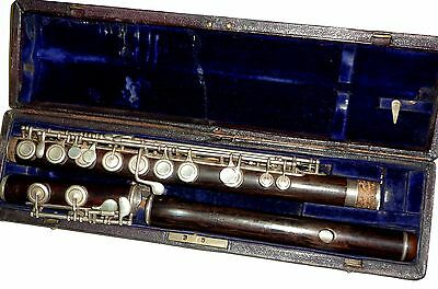 Rudall carte & Co. London Rosewood flute