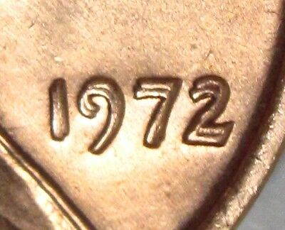 1972/72 Doubled Die Lincoln Cent * Penny * Superb BU Red #2  * The Big One