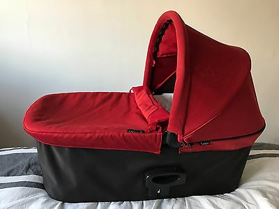 Baby Jogger Deluxe Carrycot Pram Red With Free Adaptors