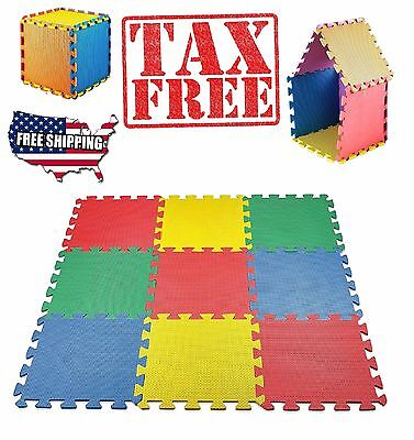 Baby Play Mat Foam Floor Puzzle Toddler Activity Playmat Safety 9 Tiles Kids Gym