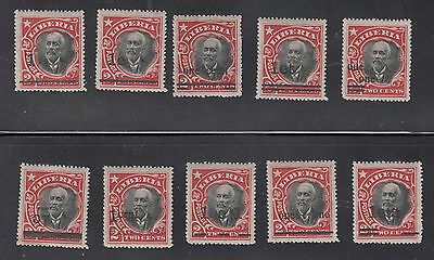Liberia # 154 MINT 1915-16 Surcharges in TEN TYPES