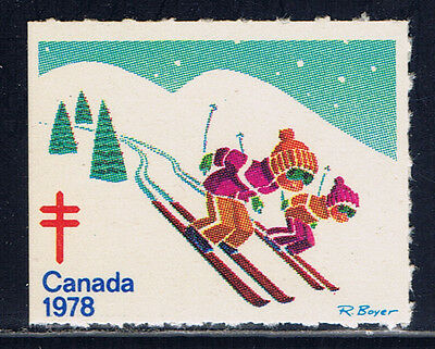 Canada #77(3) 1978 Christmas Seals CHILDREN SKIING MNH