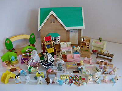 Sylvanian Families Baby Nursery with Loads of Babies and Accessories