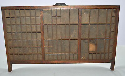 Vintage/Antique Printer's Letterpress Type Drawer Shadow Box California Job Case