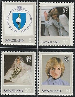 Swaziland Stamps 1982 Dianas Birthday set SG 404-407 (MNH)