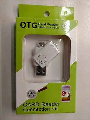 OTG MicroSD Card Reader USB 2.0 MicroUSB for Cellphone & Tablet *Free Shipping*