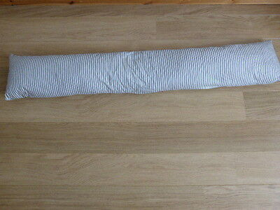Vintage Feather Bolster,pillow,bedding,ticking