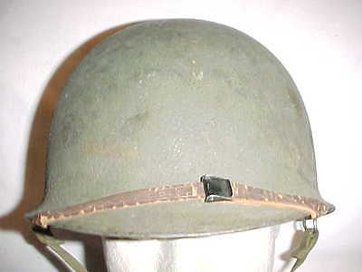 VG Condition Late-WWII M1 Flexible Bale Helmet w/ Quick Release Chin Strap