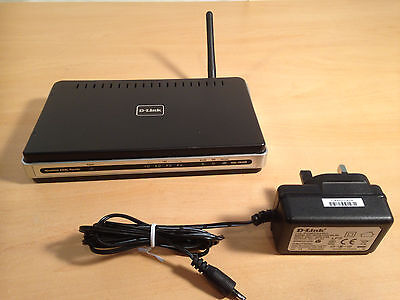 D-link DSL-2640R 4-Port Wi-Fi Wireless G Broadband ADSL2+ Router Version B2