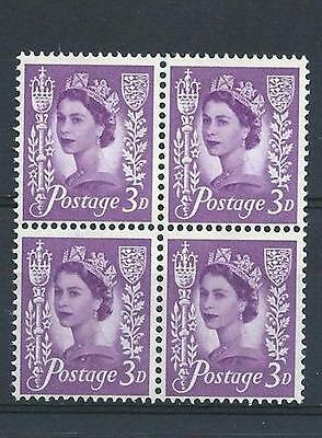 Jersey 1967 Sc# 2p Royal mace & arms of Jersey 3p Queen Elizabeth GB block 4 MNH