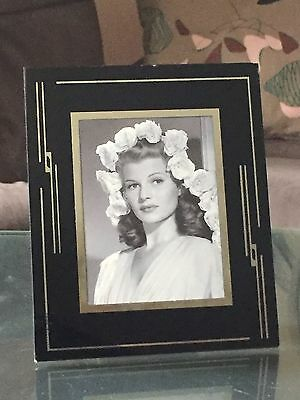 "Vintage Art Deco 1930's Reverse Painted Glass 5"" x 6"" Movie Star Picture Frame"
