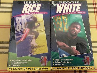 Football All Pro Sports Reggie White Jerry Rice lot of two VHS new sealed
