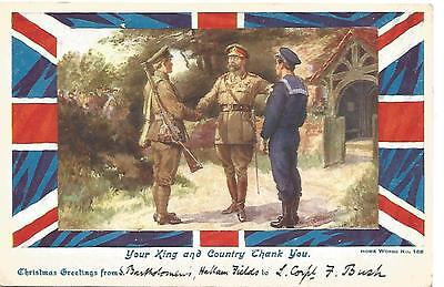 "Postcard - ""Your King and Country Thank You"""
