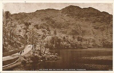 "Postcard - Trossachs - ""Ben Venue and the Path by Loch Kathine"""