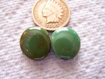 2 NATURAL Royston Turquoise Cabs 16 carat Cabochon American Nevada Matching Sets