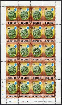 5 X Belize Stamp Sheets Altun Ha Site  Mint Never Hinged Total Value $200.00