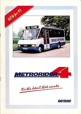 Bus Manufacturer Specification Brochure ~ Optare Metrorider 4 - New for 97: 1996