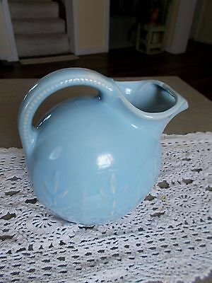 Vintage Early Shawnee Large Blue Pitcher ?