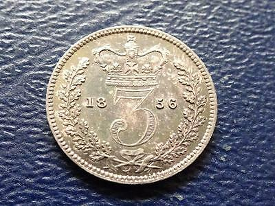 Queen Victoria Silver Maundy Threepence 1856 3D Great Britain Uk
