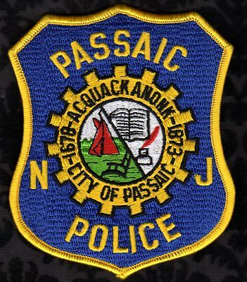 Passaic New Jersey Police Shoulder Patch  RETIRED  FREE USA SHIPPING
