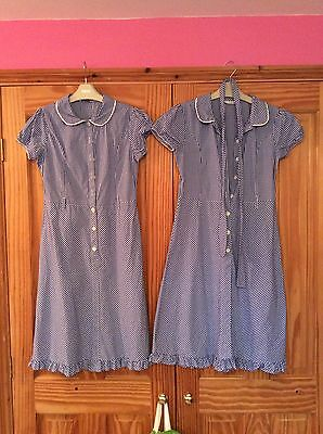 Girls M & S Summer School Dresses X 2, Age 11-12 Years, Belts, Checked print
