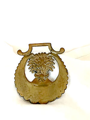 Vintage Brass Horse Harness/bridle/medallion/ornament - Sheaf Of Grain